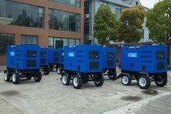 出口古巴:24台移动拖车柴油发电电焊机